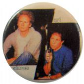 Simon & Garfunkel - 'Art & Paul' Button Badge